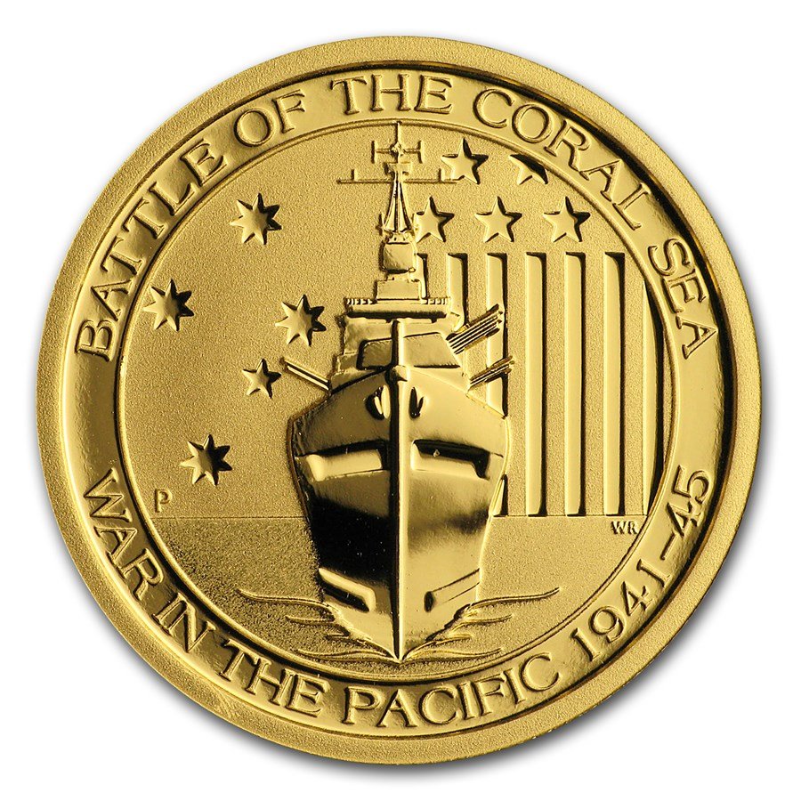 2014 Australia 1/4 oz Gold Battle of the Coral Sea BU