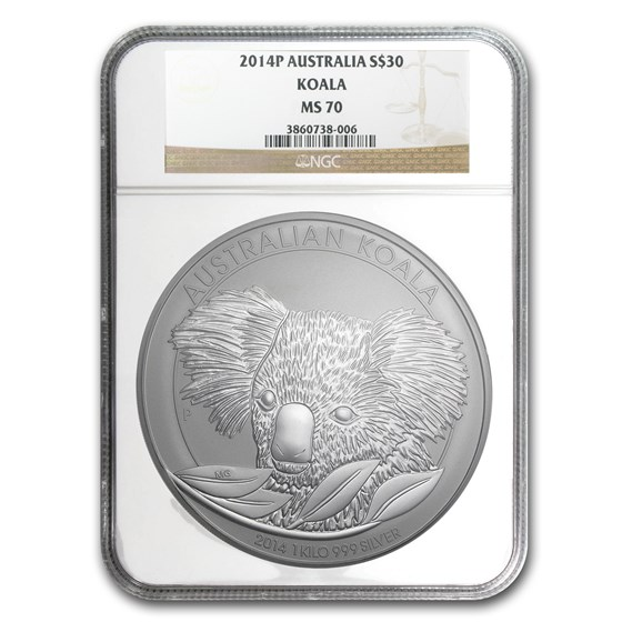 2014 Australia 1 kilo Silver Koala MS-70 NGC