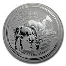 2014 Australia 1 kilo Silver Lunar Horse BU (SII)