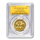 2014 Australia 1 oz Gold Horse PR-70 PCGS (Ultra High Relief)