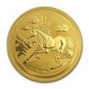2014 Australia 1 oz Gold Lunar Horse BU (Series II)