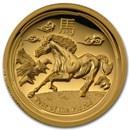 2014 Australia 1 oz Gold Lunar Horse Prf (SII, UHR, Box & COA)