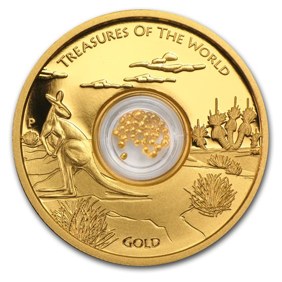 2014 Australia 1 oz Gold Treasures of the World Locket