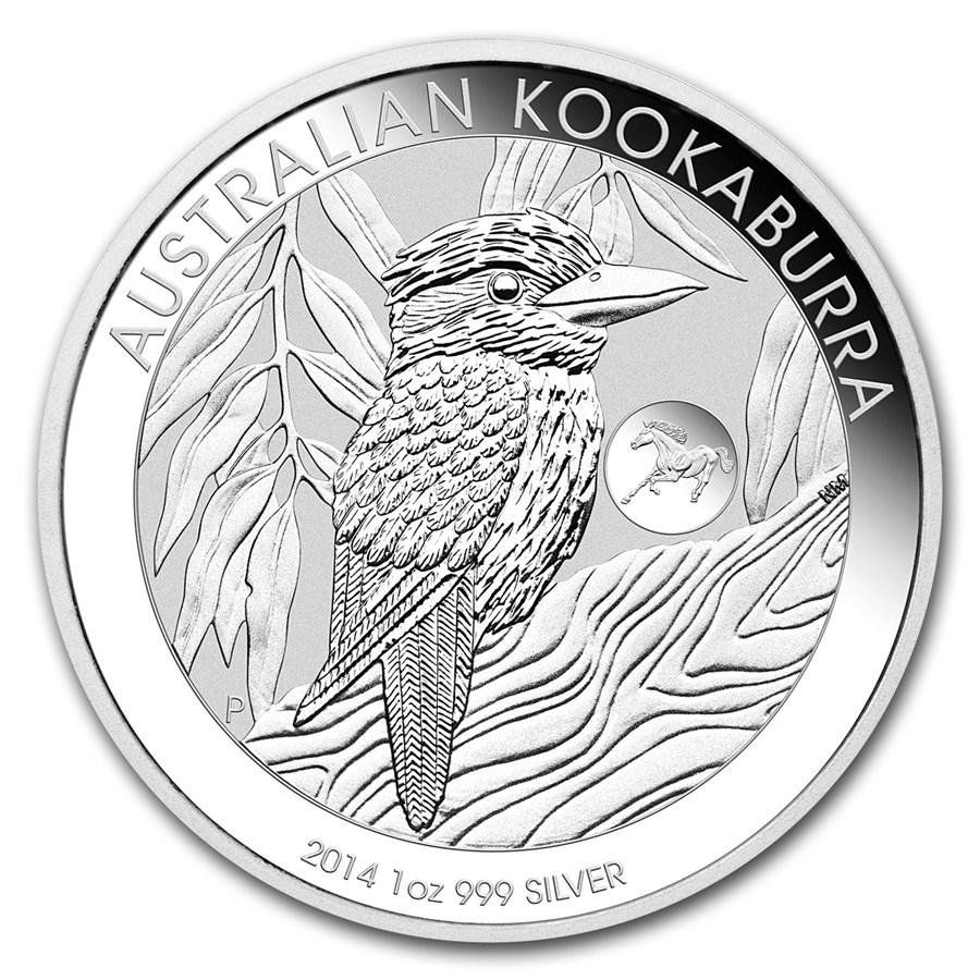 2014 Australia 1 oz Silver Kookaburra BU (Horse Privy)