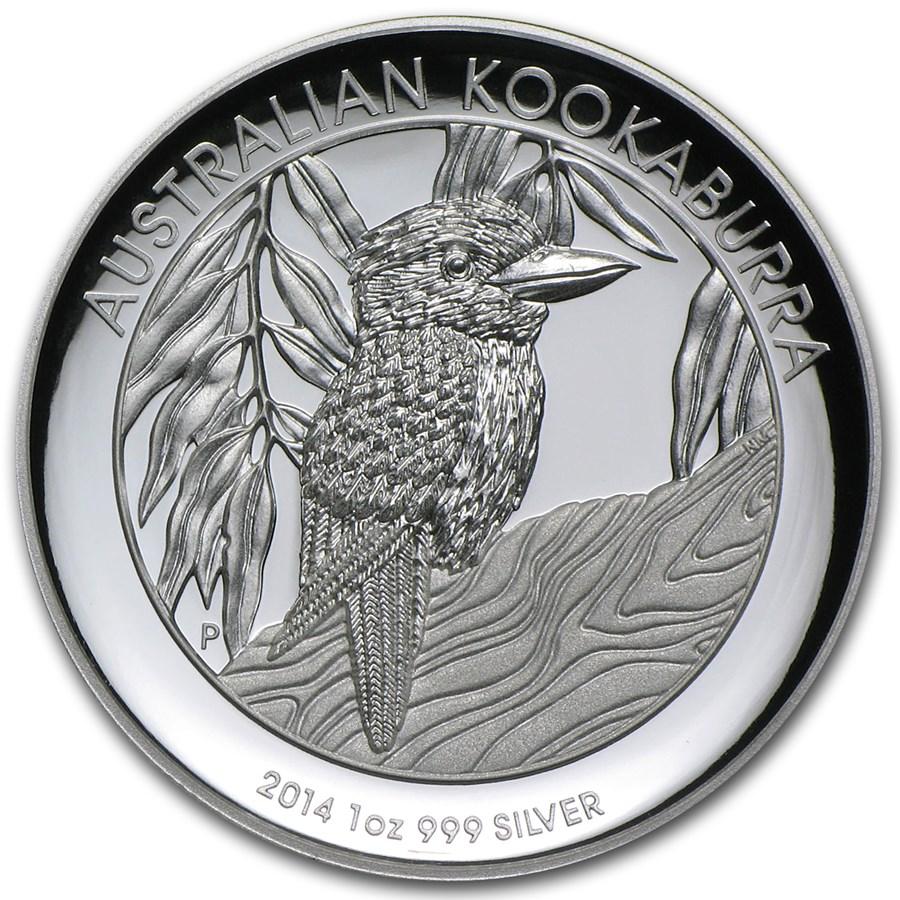 2014 Australia 1 oz Silver Kookaburra Proof (High Relief)