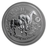 2014 Australia 1 oz Silver Lunar Horse BU (SII, Lion Privy)
