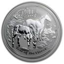 2014 Australia 1 oz Silver Lunar Horse BU (SII)