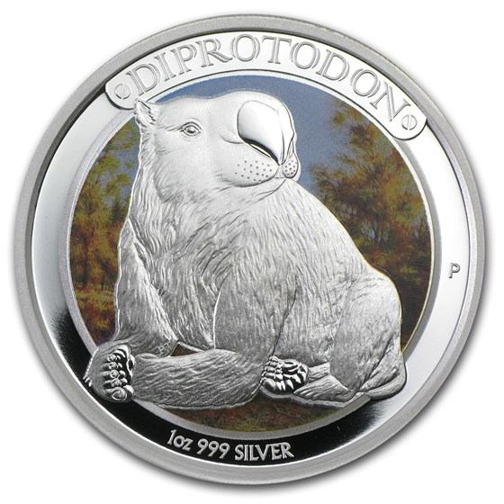 2014 Australia 1 oz Silver Megafauna Diprotodon Proof