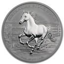 2014 Australia 1 oz Silver Stock Horse BU