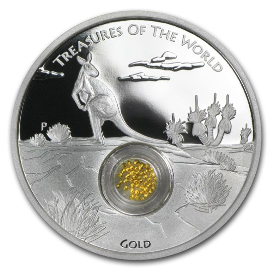 2014 Australia 1 oz Silver Treasures of the World Locket