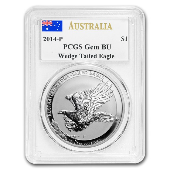 2014 Australia 1 oz Silver Wedge-Tailed Eagle PCGS GEM BU