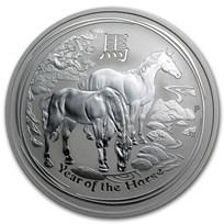 2014 Australia 2 oz Silver Lunar Horse BU (SII)