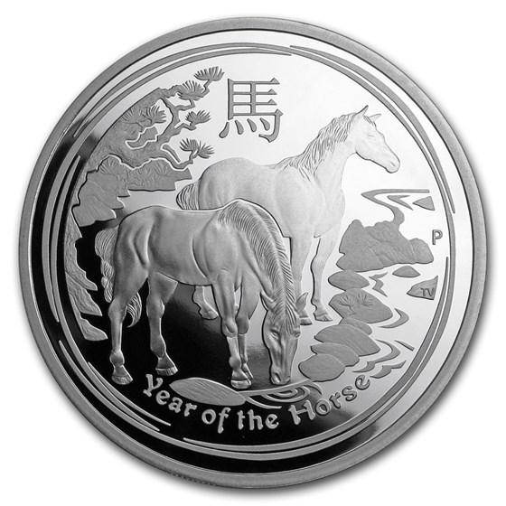 2014 Australia 2 oz Silver Lunar Horse Proof (SII)