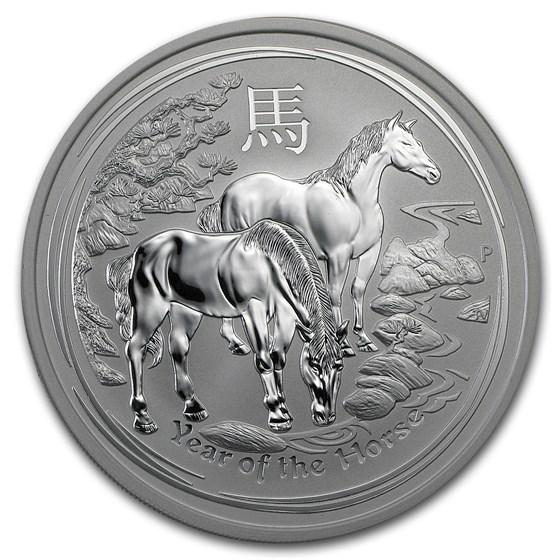 2014 Australia 5 oz Silver Lunar Horse BU (SII)