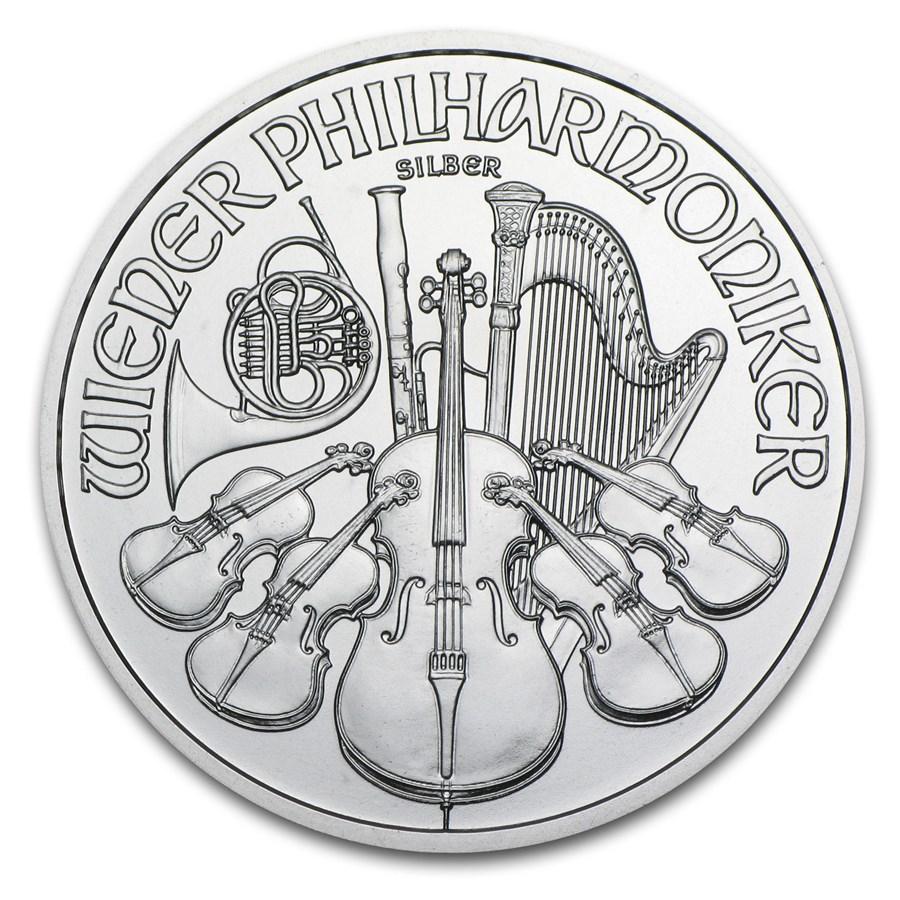 2014 Austria 1 oz Silver Philharmonic BU