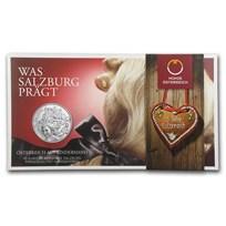 2014 Austria Silver €10 Piece by Piece BU (Salzburg)