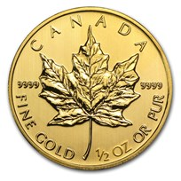 2014 Canada 1/2 oz Gold Maple Leaf BU