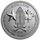 2014 Canada 1/2 oz Silver $2 Devil's Brigade BU