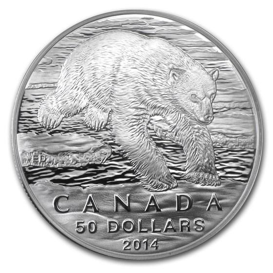 2014 Canada 1/2 oz Silver $50 Iconic Polar Bear