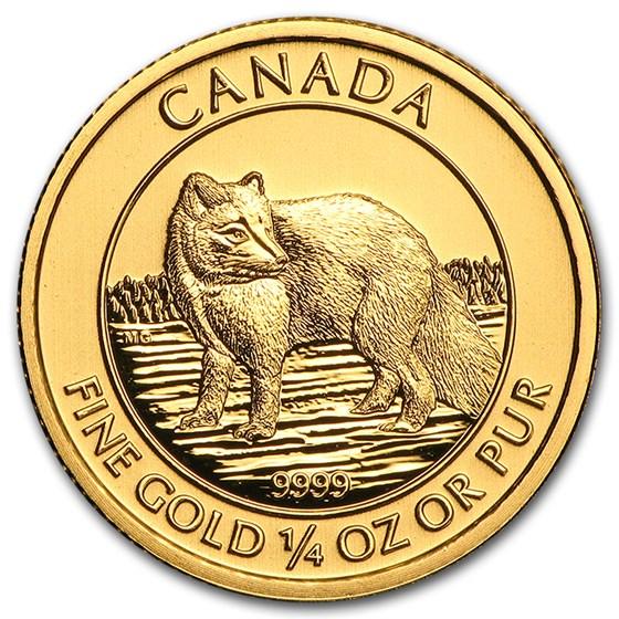 2014 Canada 1/4 oz Gold Arctic Fox BU