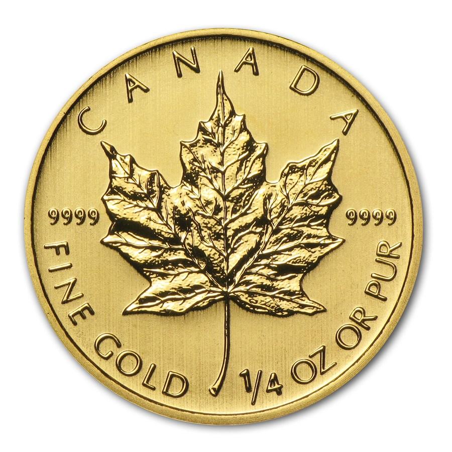 2014 Canada 1/4 oz Gold Maple Leaf BU