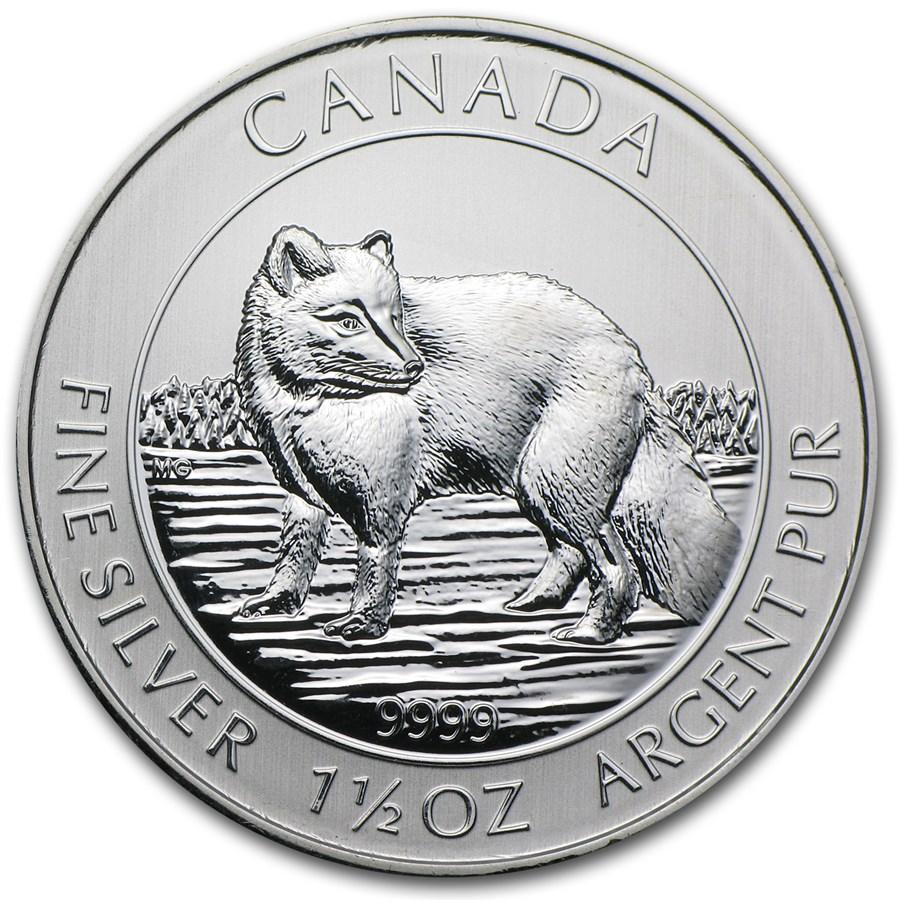 2014 Canada 1.5 oz Silver $8 Arctic Fox BU