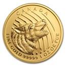 2014 Canada 1 oz Gold Howling Wolf .99999 BU (No Assay Card)