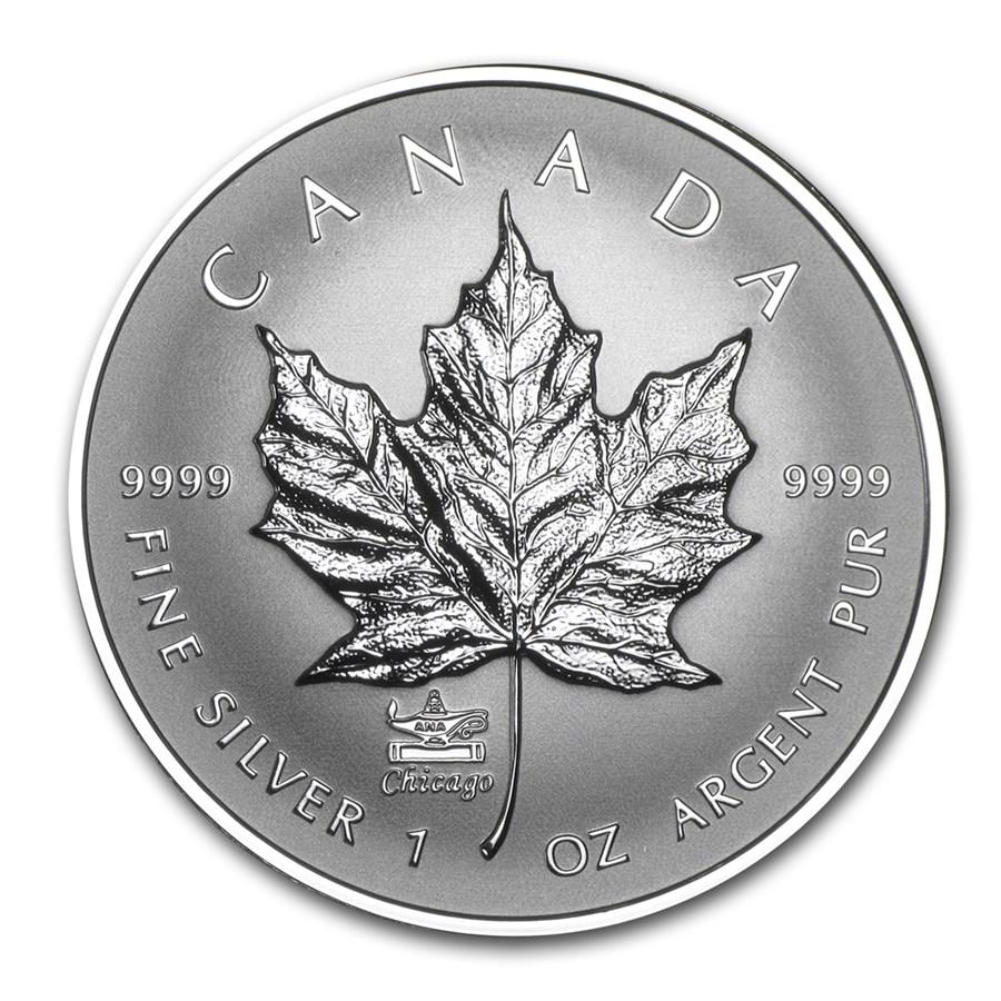 2014 Canada 1 oz Rev Proof Silver Maple Leaf ANA Privy Mark