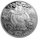 2014 Canada 1 oz Silver $100 The Grizzly Bear