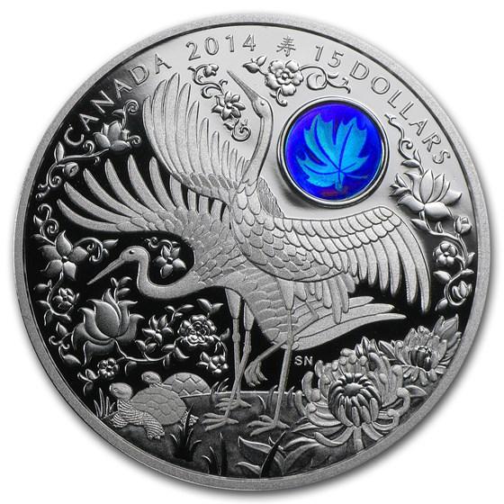 2014 Canada 1 oz Silver $15 Maple of Longevity (Hologram)