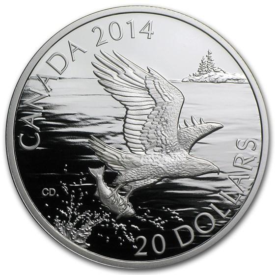 2014 Canada 1 oz Silver $20 Bald Eagle