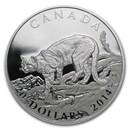 2014 Canada 1 oz Silver $20 Cougar Atop a Mountain