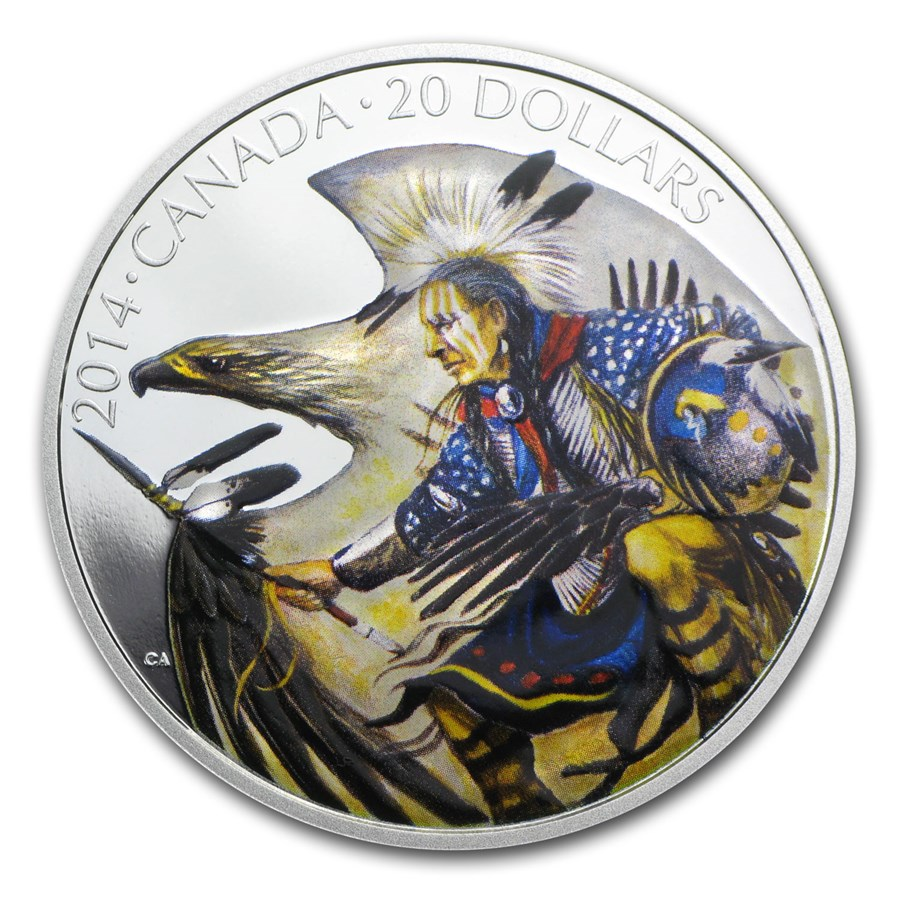 2014 Canada 1 oz Silver $20 Legend of Nanaboozhoo (w/Box & COA)