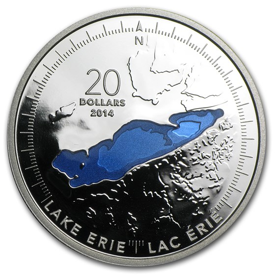 2014 Canada 1 oz Silver $20 The Great Lakes Lake Erie