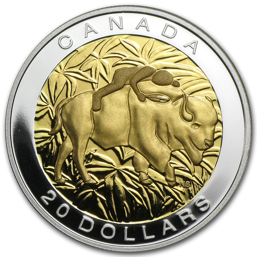 2014 Canada 1 oz Silver $20 The Seven Sacred Teachings Respect