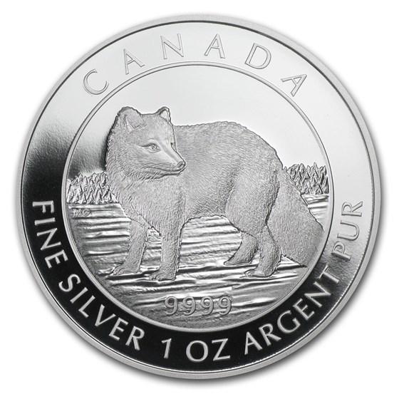 2014 Canada 1 oz Silver $5 Arctic Fox (w/Box and COA)