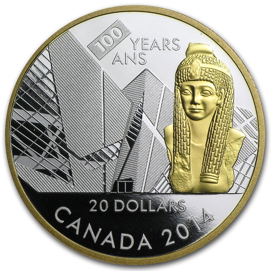 2014 Canada Silver $20 Royal Ontario Museum (100th Anniv)