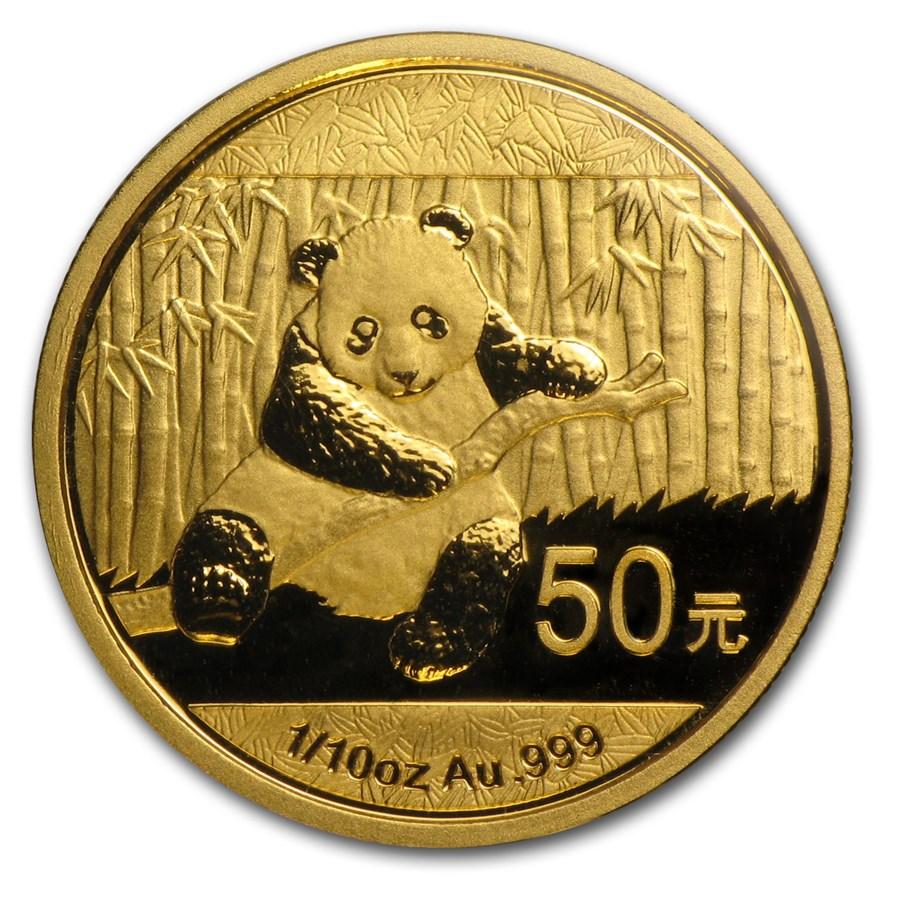 2014 China 1/10 oz Gold Panda BU (Sealed)