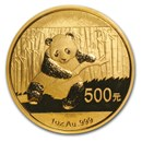 2014 China 1 oz Gold Panda BU (Sealed)