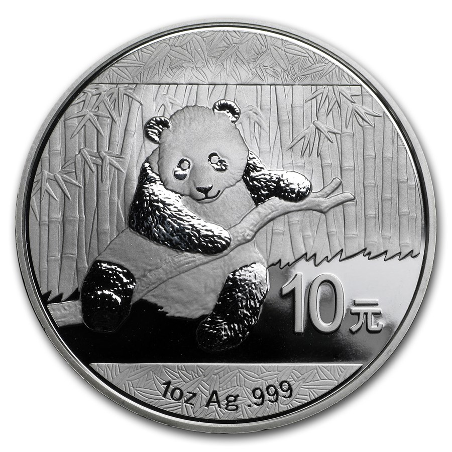 2014 China 1 oz Silver Panda BU (In Capsule)