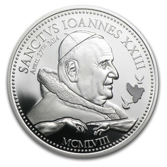 2014 Cook Islands Silver $2 Pope Johannes XXIII