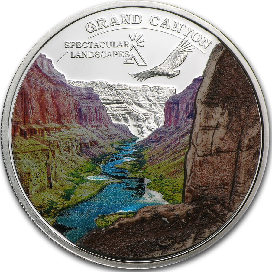 2014 Cook Islands Silver Spectacular Landscapes Grand Canyon