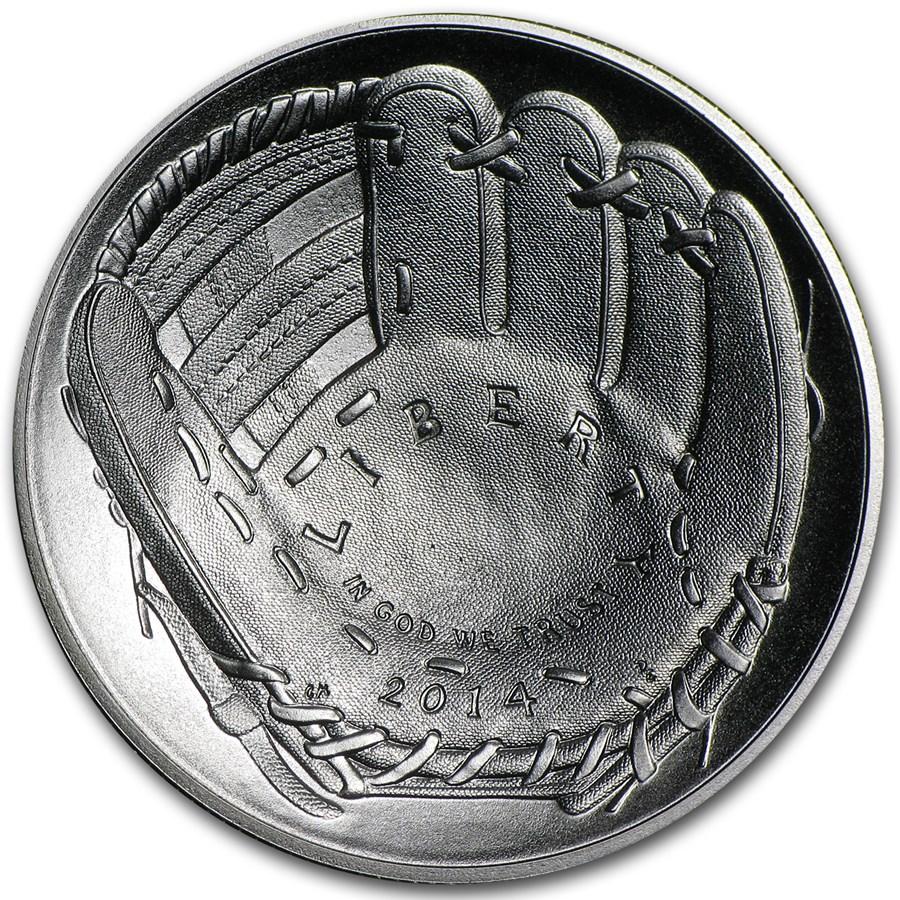 2014-D Baseball HOF 1/2 Dollar Clad Commem BU (w/Box & COA)