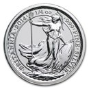 2014 Great Britain 1/4 oz Silver Britannia SS Gairsoppa BU