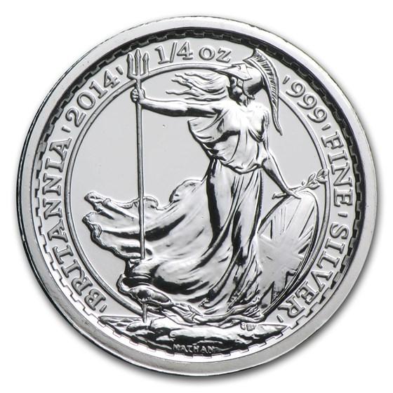 2014 Great Britain 1/4 oz Silver Britannia SS Gairsoppa BU
