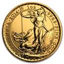 2014 Great Britain 1 oz Gold Britannia BU