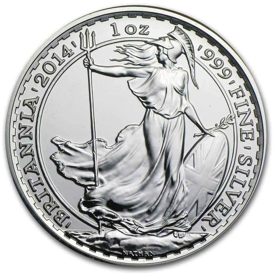2014 Great Britain 1 oz Silver Britannia BU
