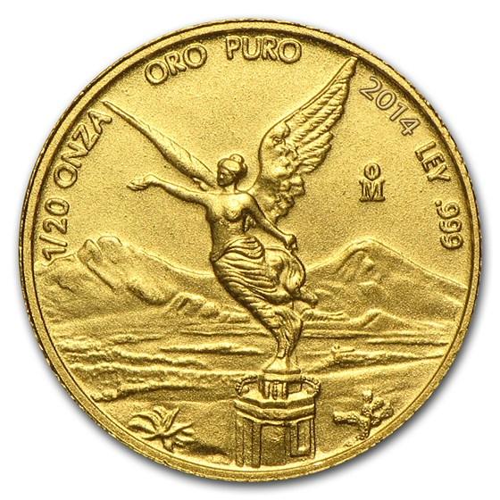 2014 Mexico 1/20 oz Gold Libertad BU
