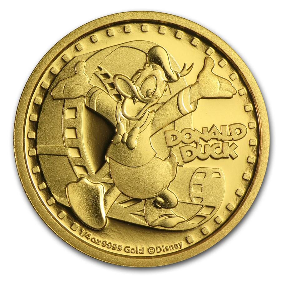 2014 Niue 1/4 oz Proof Gold $25 Disney Donald Duck
