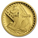 2014 Niue 1/4 oz Proof Gold $25 Disney Pluto